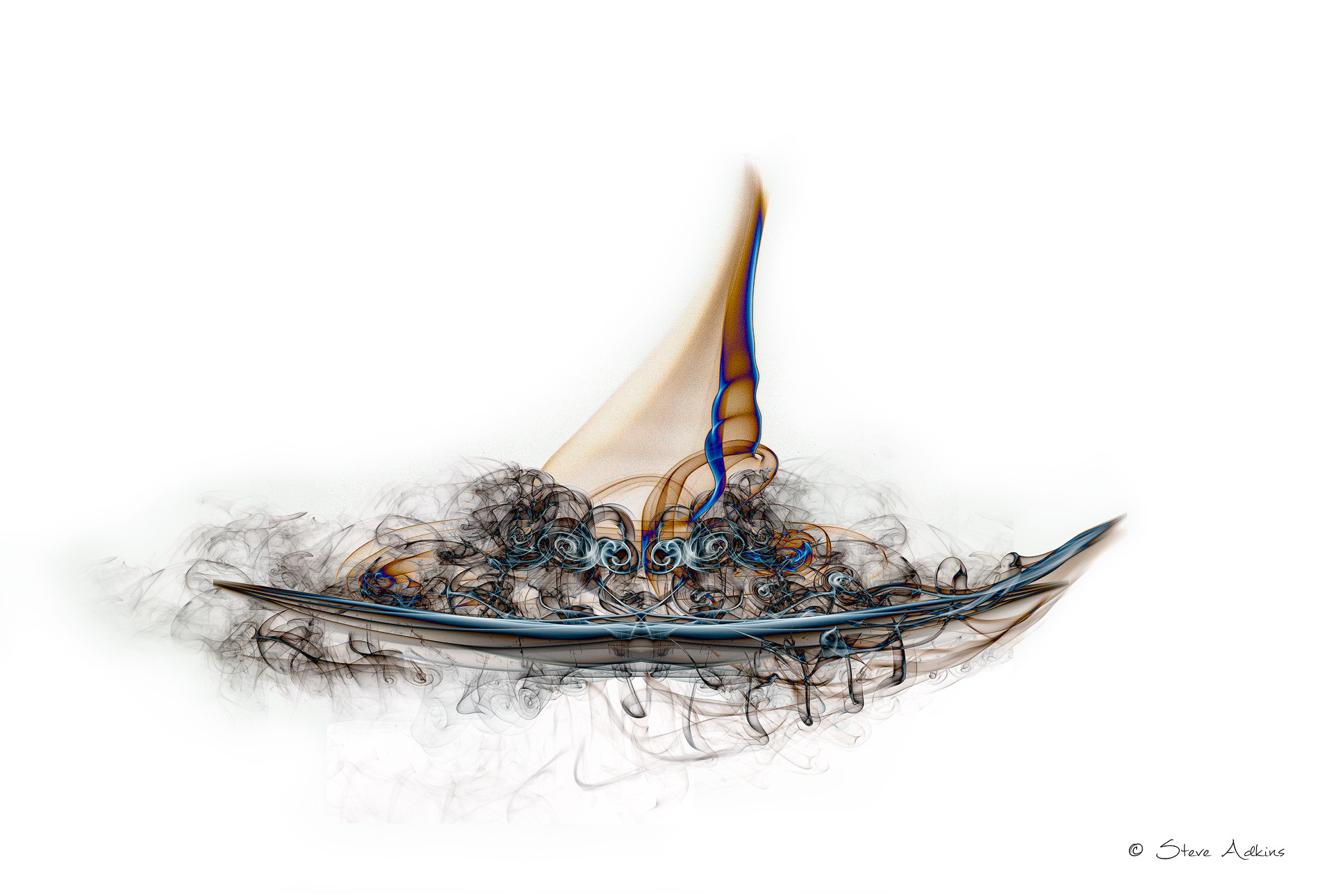 Smoke Boat Composite made from different smoke images.
