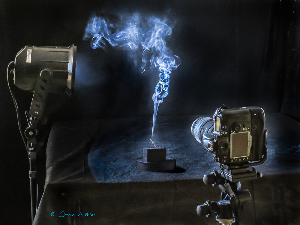 My setup for photographing smoke images.