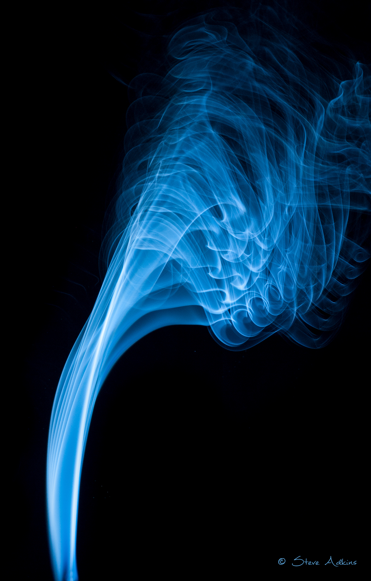 Smoke photograph using a strobe light.